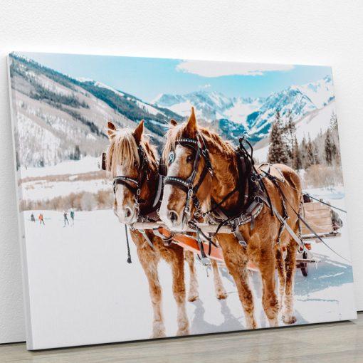 tableau-cheval-chevaux-de-trait-deco-animaux-decoration-murale-artetdeco