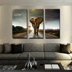 tableau-elephant-afrique-poster-animaux-decoration-murale-deco-tableau-3-parties-trytique-artetdeco