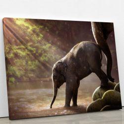 tableau-elephanteau-elephant-petit-elephant-decoration-murale-animaux-artetdeco