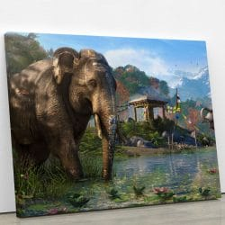 tableau-farcry-elephant-tableau-sur-toile-decoration-murale-geek-artetdeco