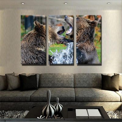 tableau grizzly grizzli ours decoration interieur