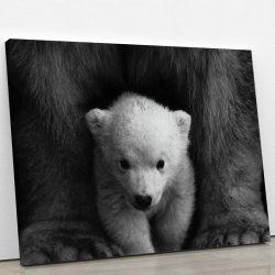 tableau ours noir et blanc