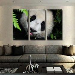 tableau-panda-deco-murale-decoration-tableau-3-parties-artetdeco.fr