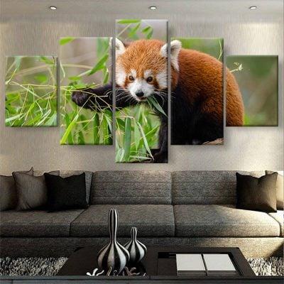 tableau poster panda roux