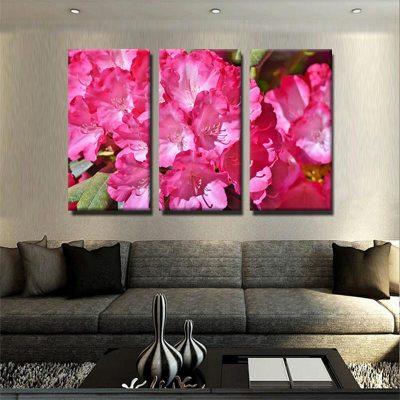 rhododendron-tableau-decoration-florale-murale-poster-tableau-3-parties-artetdeco