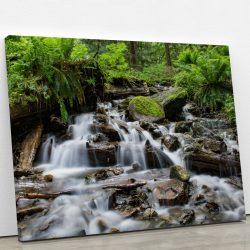 tableau-cascade-riviere-foret-nature-tableau-deco-artetdeco