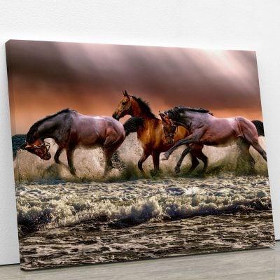 tableau-cheval-et-plage-decoration-murale-poster-animaux-deco-artetdeco