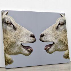 tableau-chevre-mouton-tableau-animaux-deco-murale-artetdeco.fr