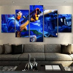 tableau fortnite 5 parties decoration murale poster artetdeco.fr