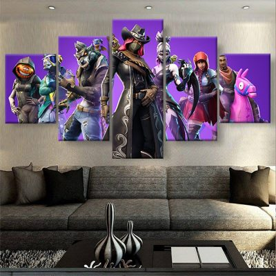 tableau fortnite 5 parties deco geek