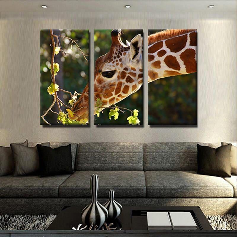 tableau-girafe-deco-murale-chambre-tableau-3-parties-artetdeco.fr