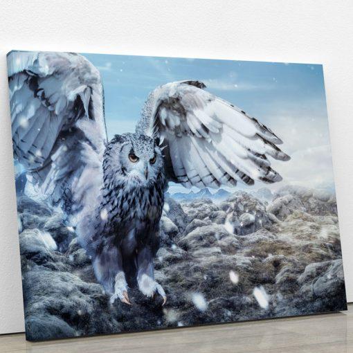 tableau-hibou-animaux-decoration-murale-artetdeco.fr