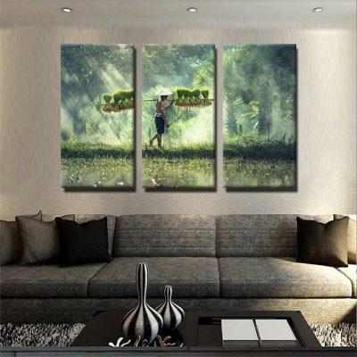 tableau-paysan-asiatique-decoration-tropical-tableau-3-parties-artetdeco