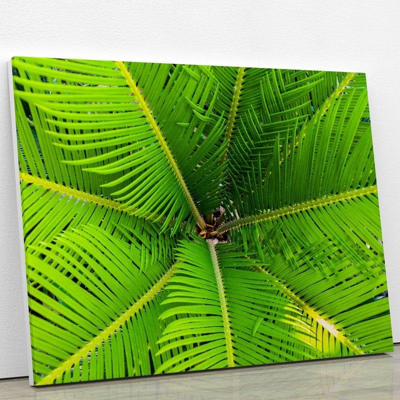 tableau-plam-vert-decoration-tropical-murale-artetdeco