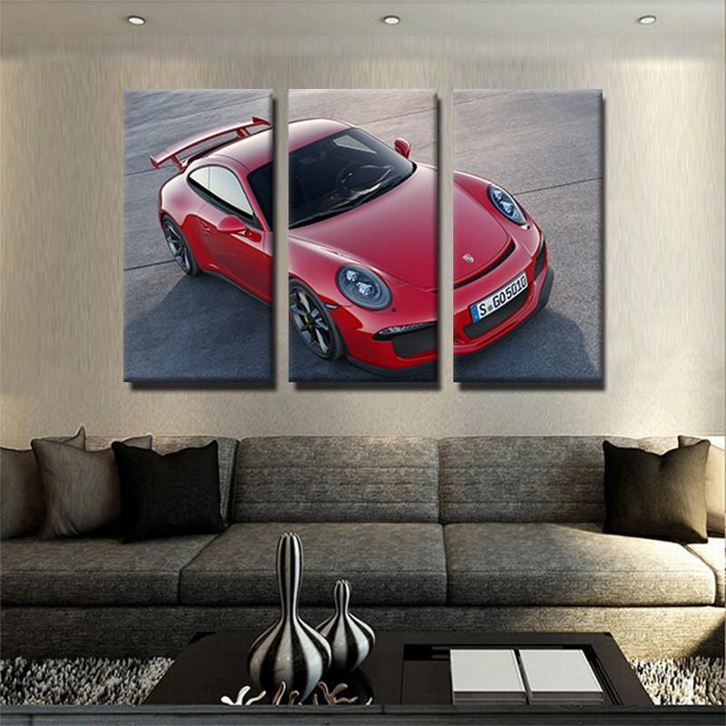 tableau-Porsche-911-GT3-2014-poster-voiture-automobile-decoration-murale-