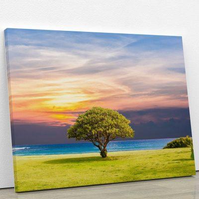 tableau-arbre-et-coucher-de-soleil-mer-decoration-murale-artetdeco