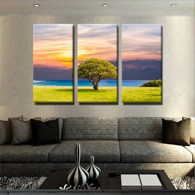 tableau-arbre-et-coucher-de-soleil-mer-decoration-murale-tableau-3-parties-3-formats-artetdeco