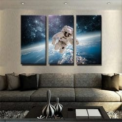tableau-astronaute-galaxie-planete-decoration-murale-deco-tableau-3-parties-plusieurs-parties-