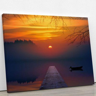 tableau-coucher-de-soleil-et-ponton-pont-deco-murale-artetdeco