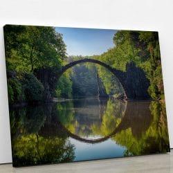 tableau-foret-et-pont-et-nature-et-riviere-deco-murale-decoration-maison-