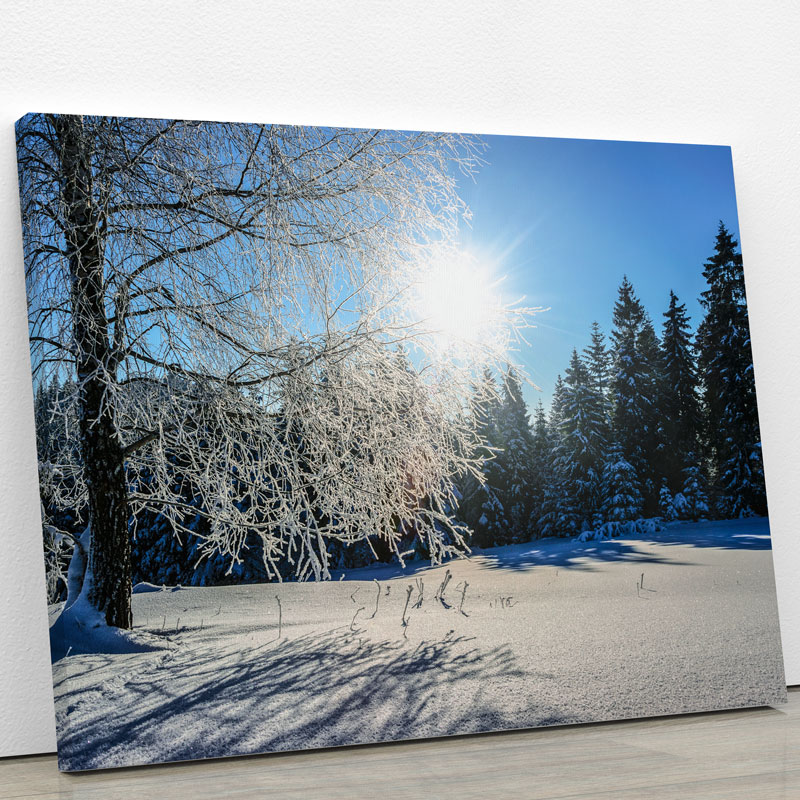 tableau-foret-neige-hiver-deco-murale-decoration-murale-poster-