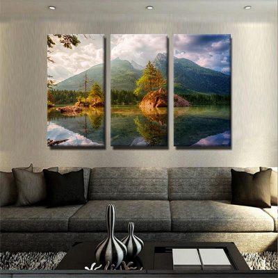 tableau-lac-et-montagne-deco-murale-nature-artetdeco-tableau-grand-format-xxl-decoration-murale-tableau-3-formats-tryptique