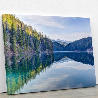 tableau-lac-montagne-et-foret-decoration-murale-nature-tableau-xxl-grand-format-artetdeco