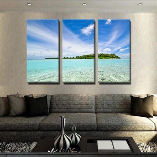 tableau-mer-ocean-ile-deco-murale-decoration-maison-nature-tableau-plusieurs-parties-tableau-3-parties-mer