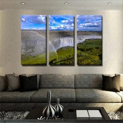 tableau-montagne-et-cascade-tableau-xxl-grand-format-tableau-3-formats-tryptique-artetdeco