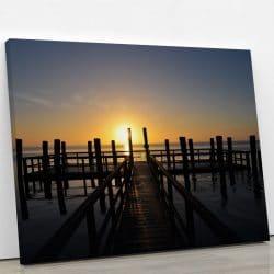 tableau-ponton-et-couche-de-soleil-tableau-nature-grand-format-xxl-artetdeco