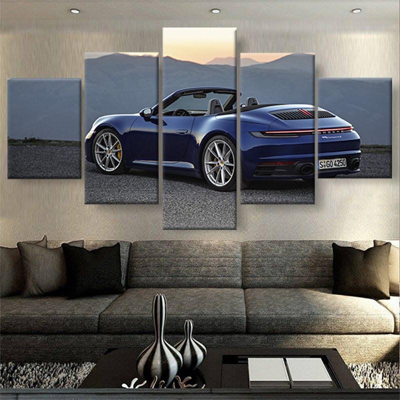 tableau-porsche-911-carrera-4s-cabriolet-2019-poster-automobile-decoration-murale-voiture