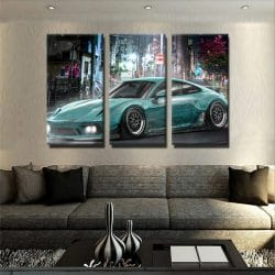 tableau-porsche-911-tokyo-poster-automobile-voiture-decoration-murale