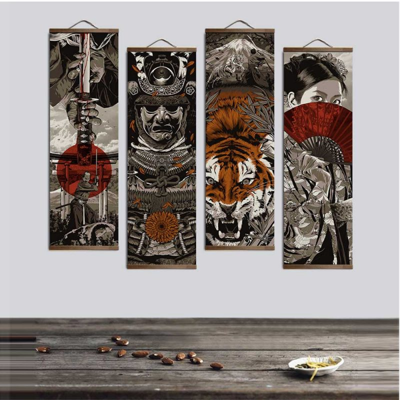 Tableau japonais samourai 1 6302 d82a97