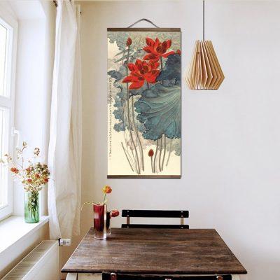 Tableau chinois fleurs 5 6590 3f1505