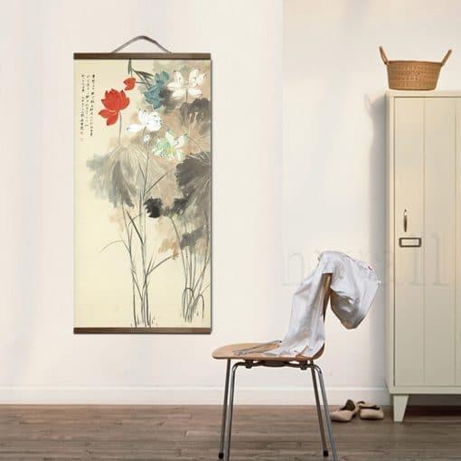 Tableau chinois fleurs 3 6590 5219e7