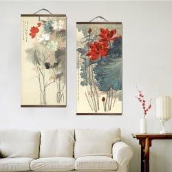 Tableau chinois fleurs 4 6590 97dfd6