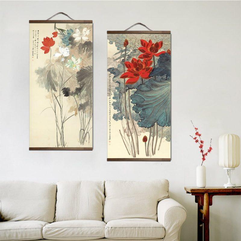 Tableau chinois fleurs 1 6590 97dfd6