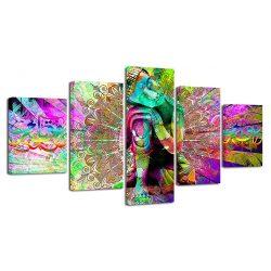 tableau-bouddha-coloré