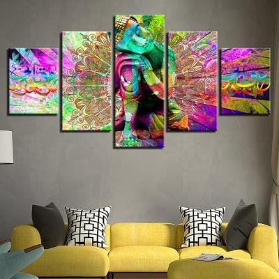 tableau sur toile bouddha coloré