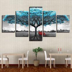 cadre arbre bleu