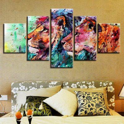 tableau cadre animaux le roi lion