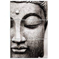 cadre bouddha noir et blanc