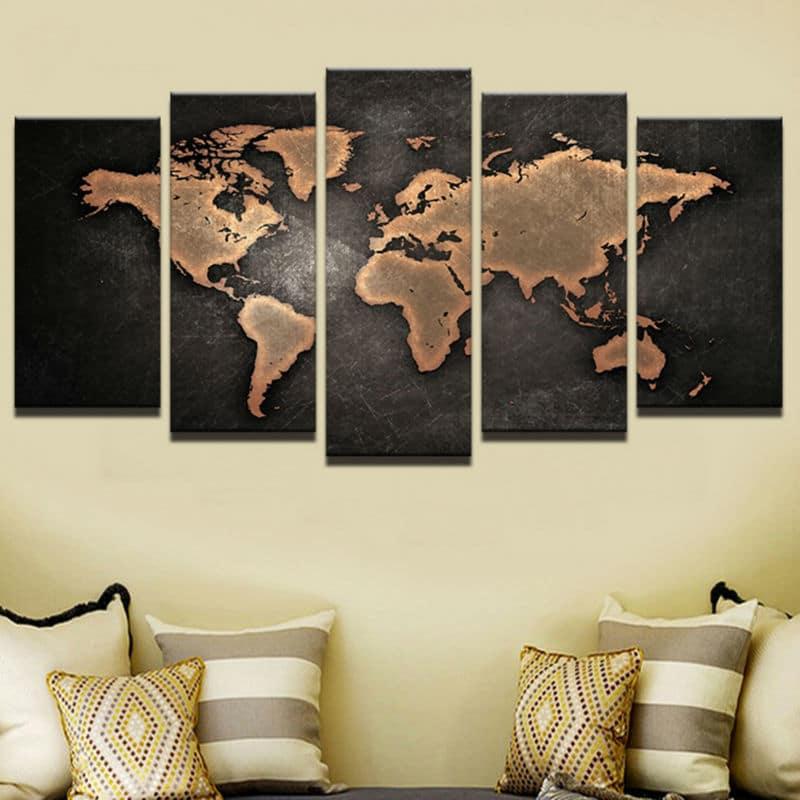 Tableau carte du monde moderne 1 7765 aa37cd