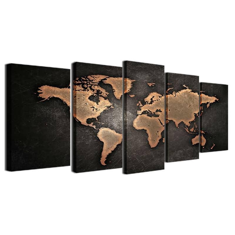 tableau carte du monde decoration murale