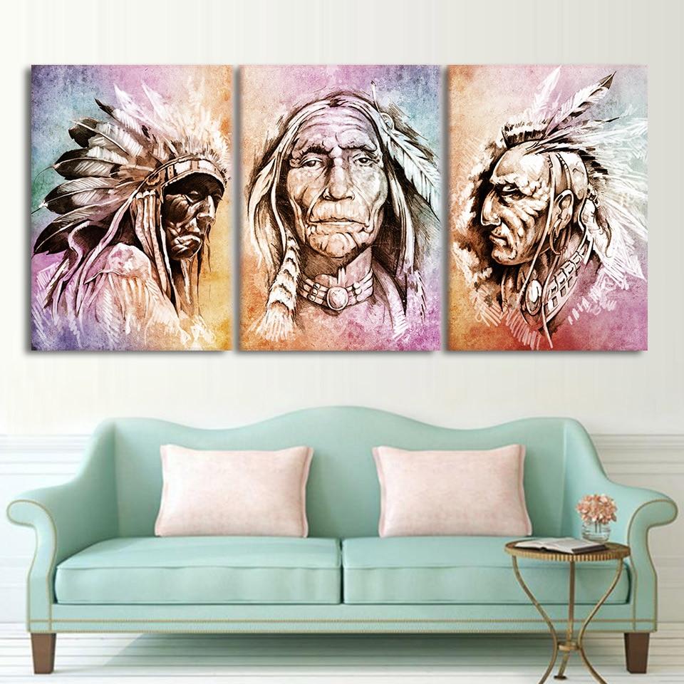 tableau indien colore