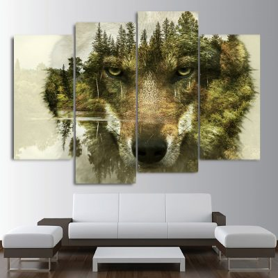 tableau tete de loup