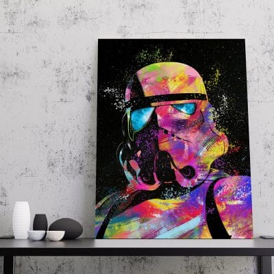 tableau Stormtrooper star wars geek decoration murale toile poster cadeau geek stars wars stormtrooper 03