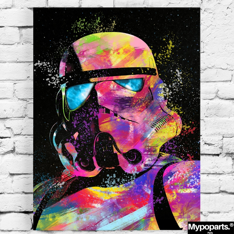 tableau Stormtrooper star wars geek decoration murale toile poster cadeau geek stars wars stormtrooper 06