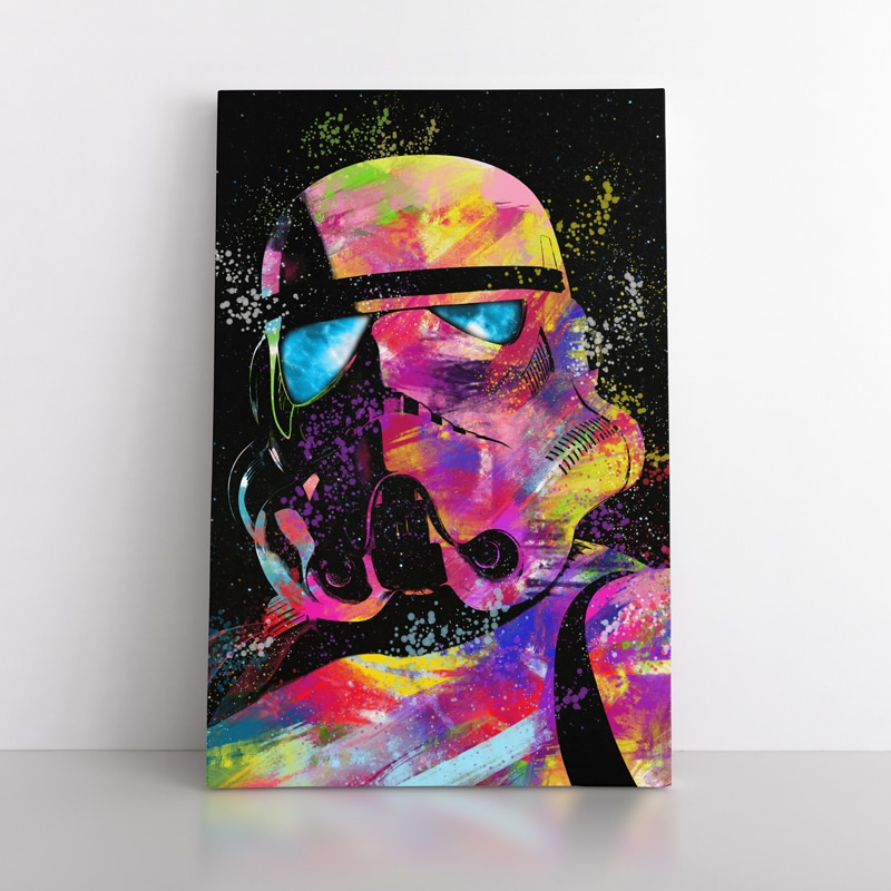 tableau Stormtrooper star wars geek decoration murale toile poster cadeau geek stars wars stormtrooper 07