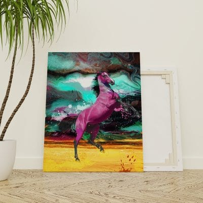 tableau cheval pop art